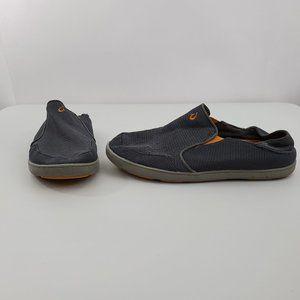 Olukai Nohea Mesh Shoes 11 Gray Slip On Comfort Bo